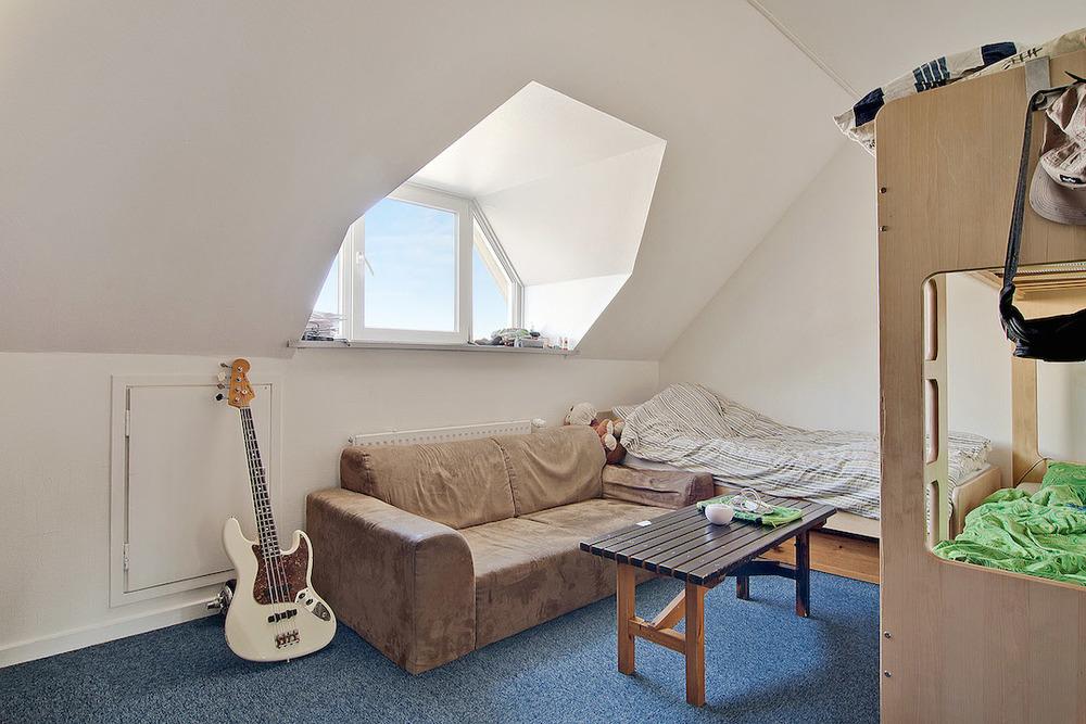 Typisk værelse på gammel drengegang