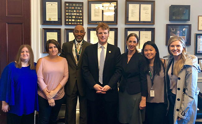 Advocates from Massachusetts visit Congressman Kennedy on Lobby Day.