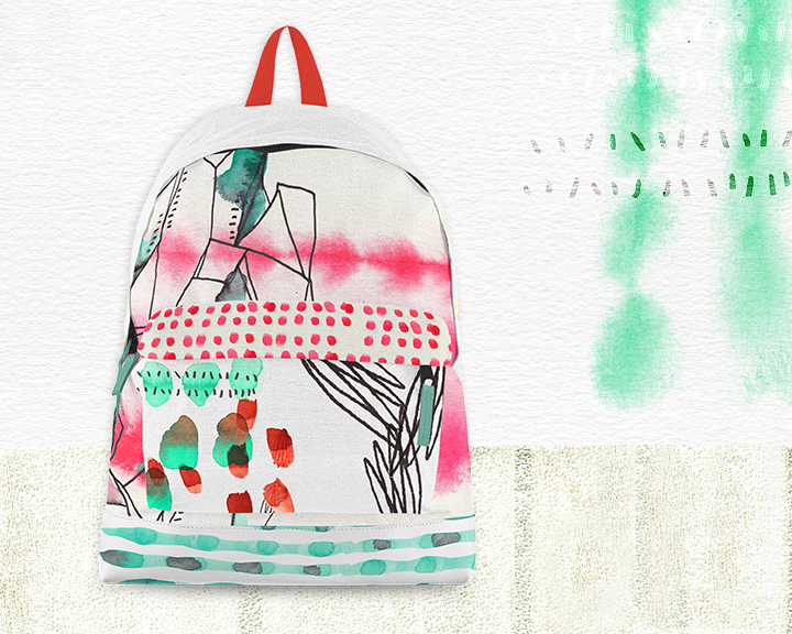 Abstract Watercolor Bag
