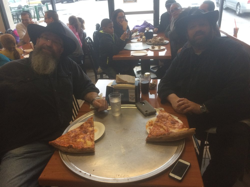 David and Harold on their last slice each.JPG