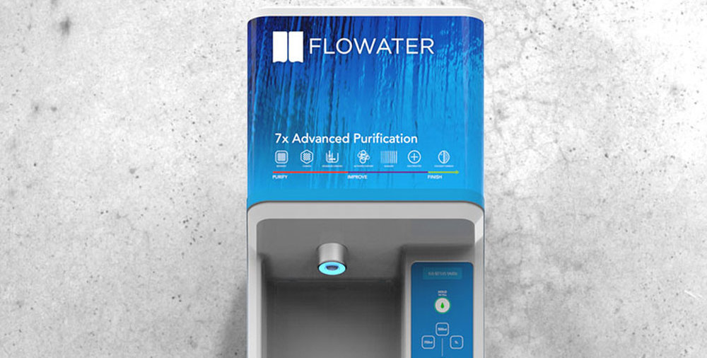 Flowater Pure Water, No Waste Brand Identity
