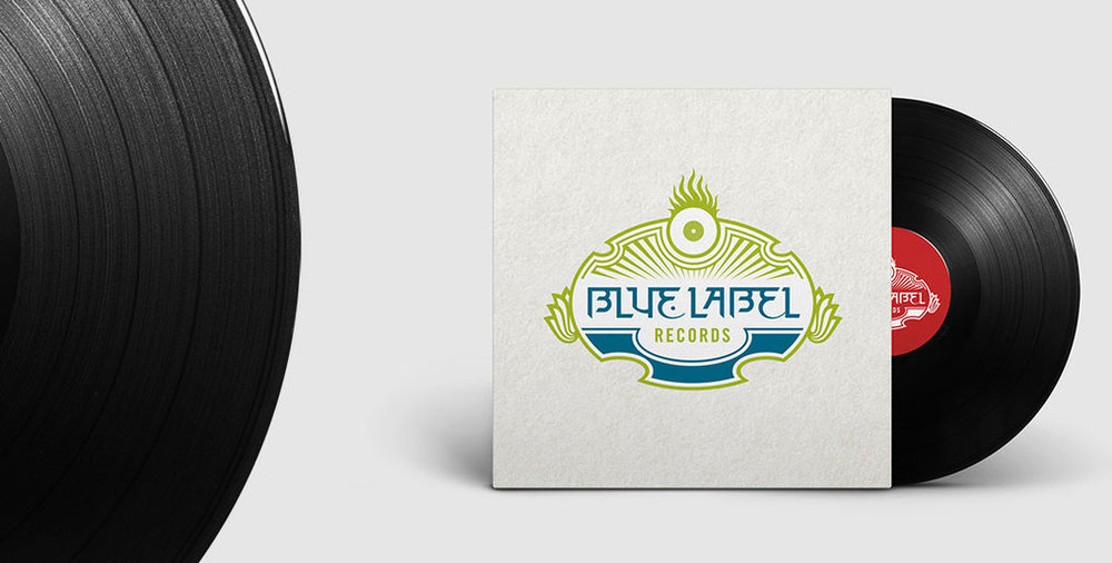 Blue Label Guitars Rock and Roll meets Hinduism  Brand Identity