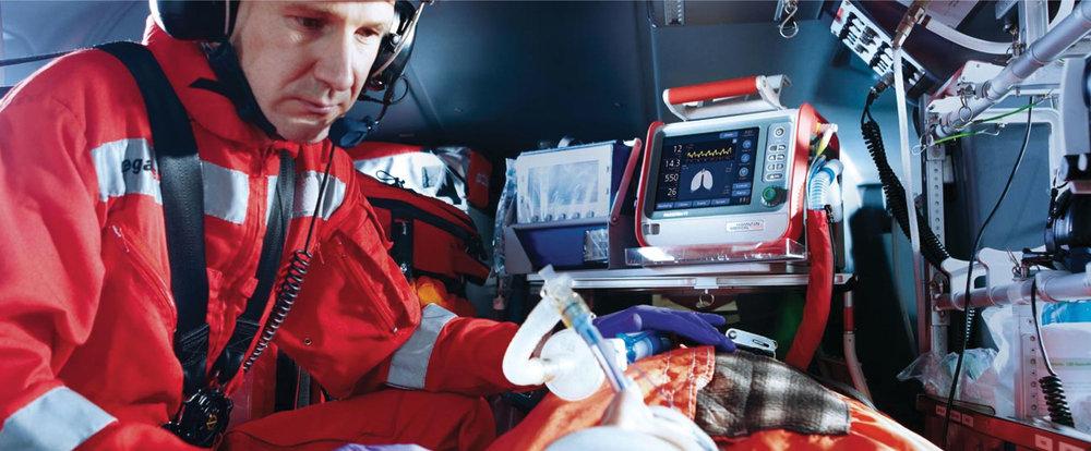 Hamilton medical  Respirators in flight