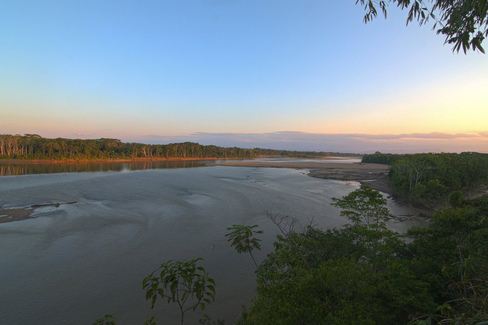 Overlook of the Tambopata River at our field site in Southeastern Peru.