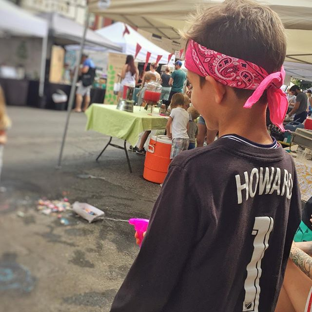 Rockin' the @timhow1 jersey and an @elcaminotavern bandana at the @visitdenverhighlands Farmers Market. #summer