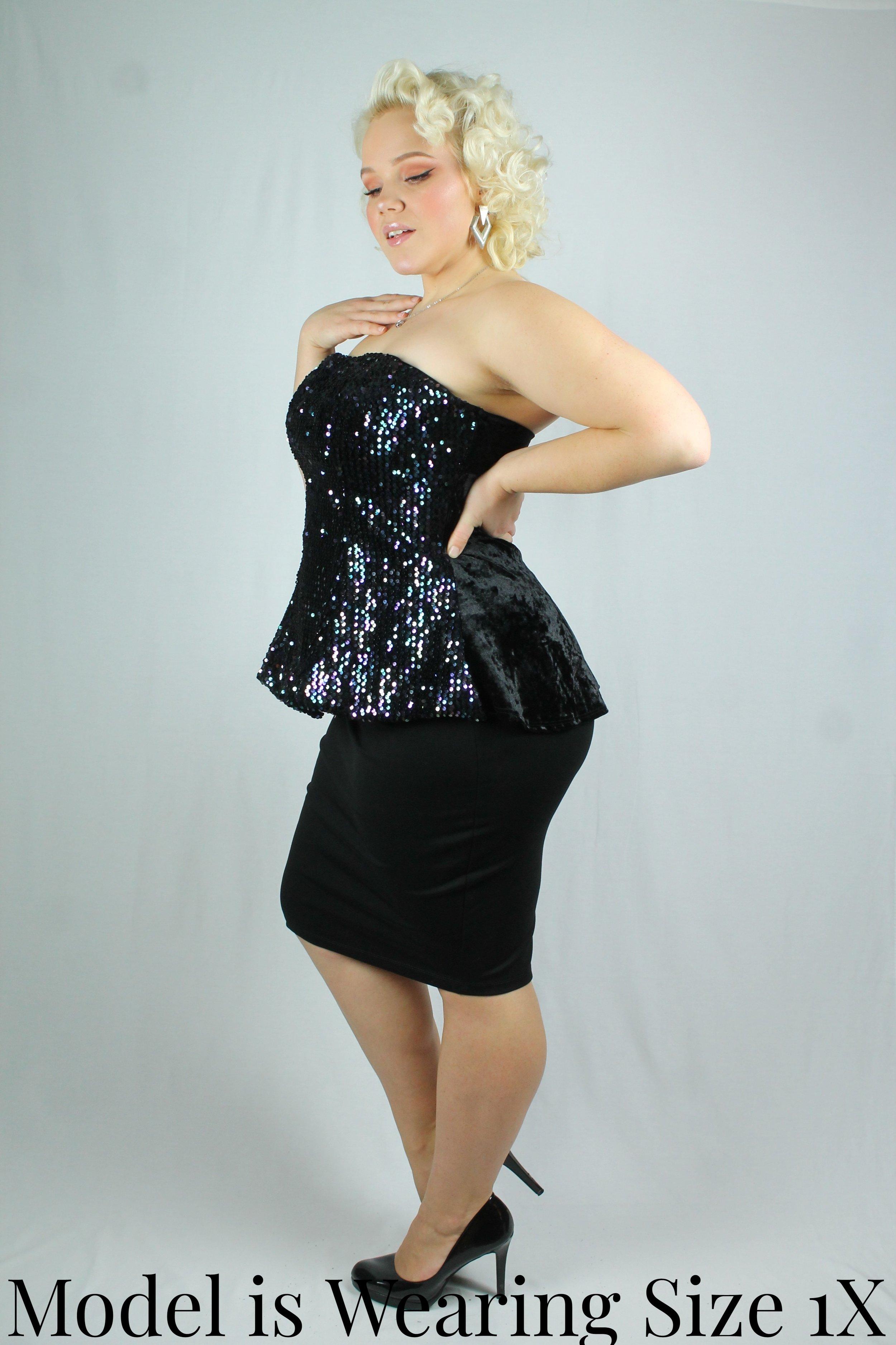 84d5ee0fb40 Sequin Tube Top — Your Big Sister s Closet Plus Size