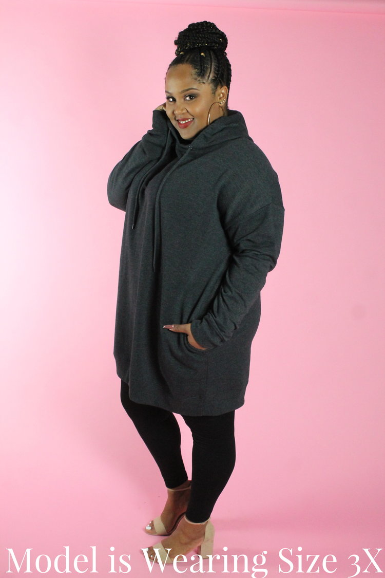 2d8af1ebce8 Grey Oversized Hoodie Dress — Your Big Sister s Closet Plus Size