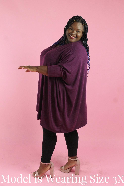 108fae19449 Plum Poncho Tunic — Your Big Sister's Closet Plus Size