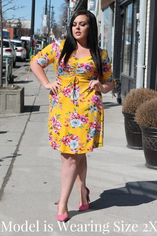 d6c333dac9 Your Big Sister s Closet Plus Size. IMG 2240.jpg IMG 2242.jpg. Yellow 1 2  Sleeve Floral Dress