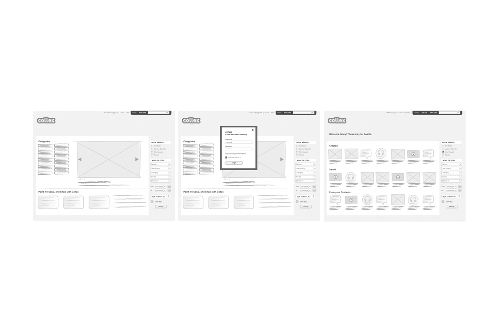 A Selection of Wireframes