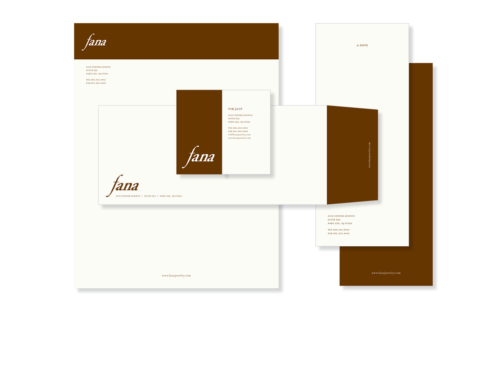 Stationary Suite for a Fine Jewelry Company
