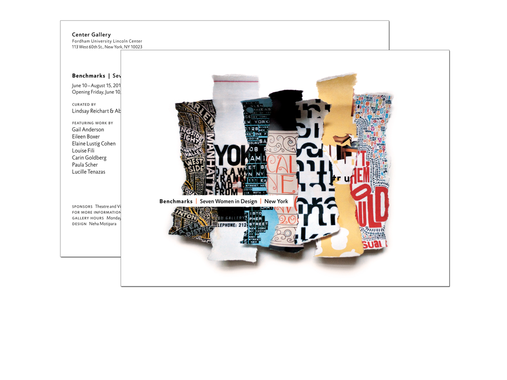 """Benchmarks"" Exhibition Postcard"