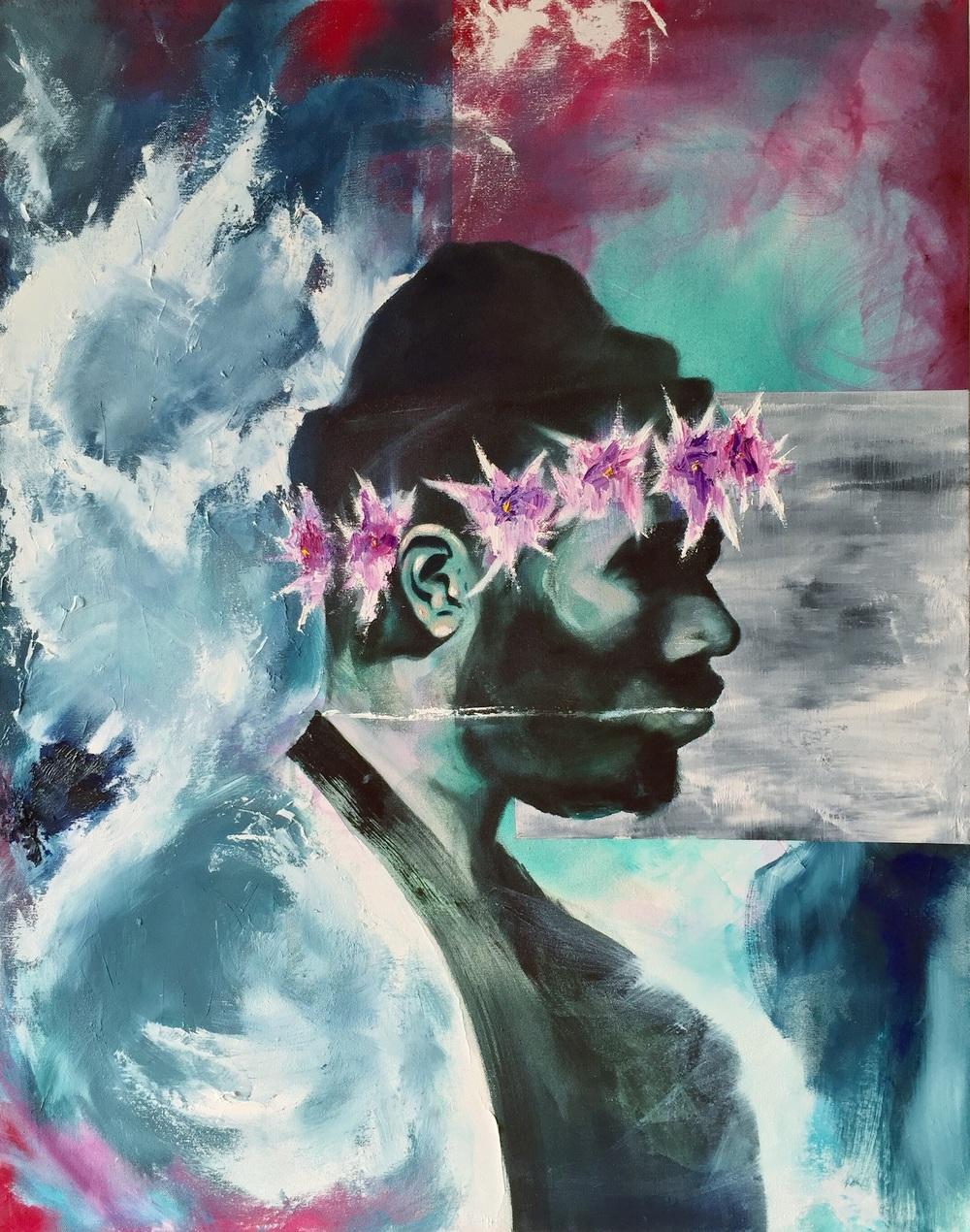 Daisychain Oil on canvas 2015