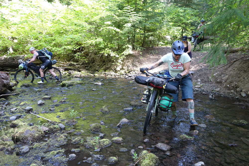 Crossing Tygh Creek. Photo by Jocelyn Gaudi.