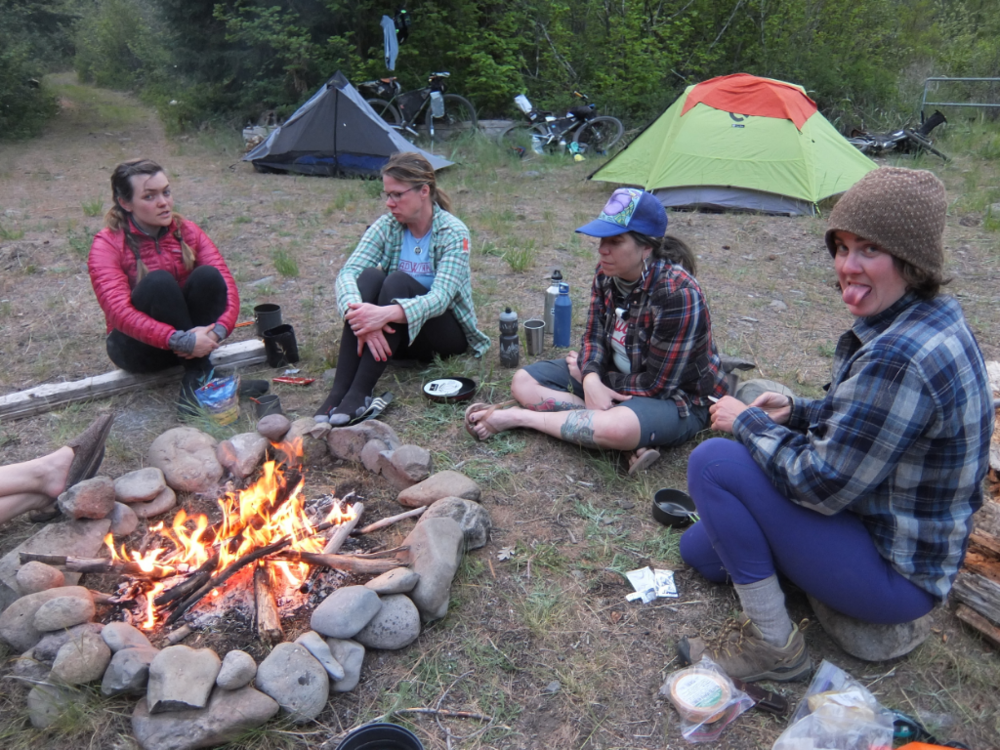 Camp vibes - tired but happy. Photo by Kristin Valentine.