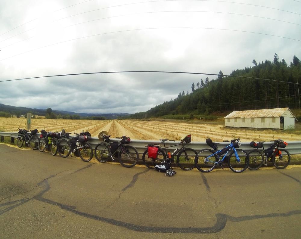 Bikes before the gravel.