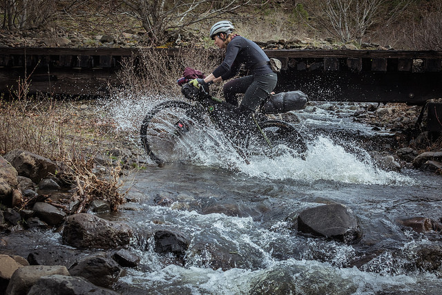 Me doing my bikepacking thing. Photo by  Limberlost.co .