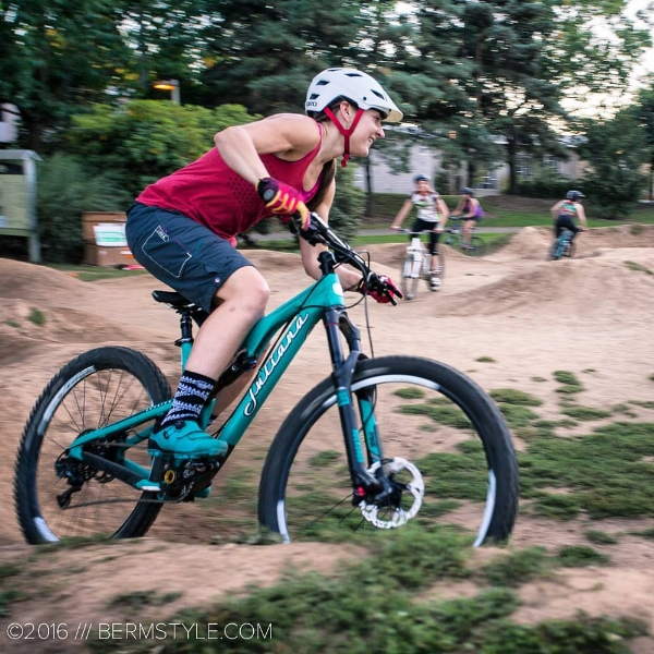 Leading a Women's Clinic at Venture Pump Track.