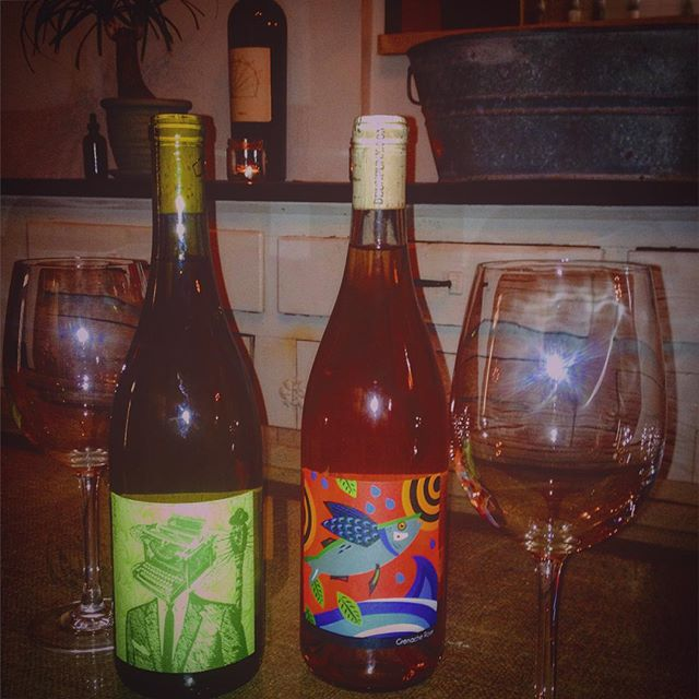 Our first free tasting of 2016! This Sat. we commence the weekly free tastings in our Back Room, 5pm-7pm! To start off with a bang Dan & his Deux Punx line of incredibly unique & delicious natural wines will be pouring his White Rhone Blend, his Grenache Rosé (both pictured) as well as his Viognier and the Grenache! Yum! 2016 is off to a great start! #freesf #local #localcellar #winetasting #wine #rosé #redwine #whitewine #deuxpunx #napa #grenache #mission #ca #california #sanfrancisco #sf #sfmission #madehere #freetasting #naturalwine #tastings