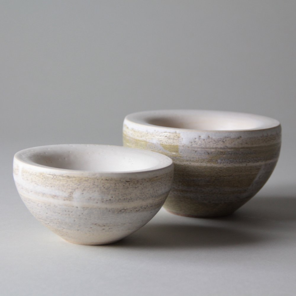 Stoneware ceramic bowls by Lilith Rockett, Portland, Oregon