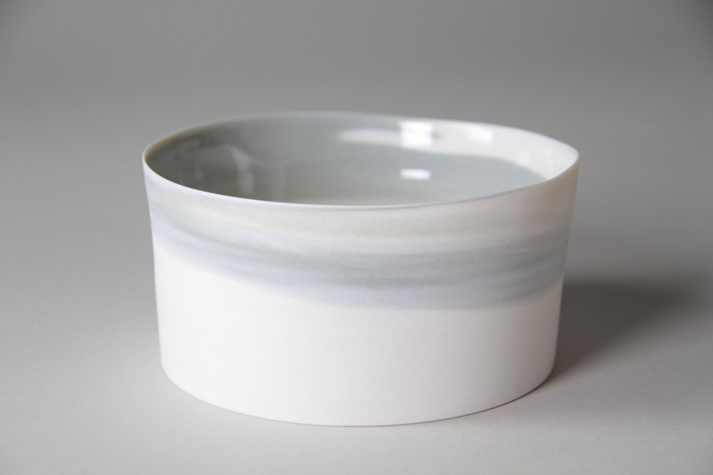 Porcelain ceramic bowl by Lilith Rockett, Portland, Oregon