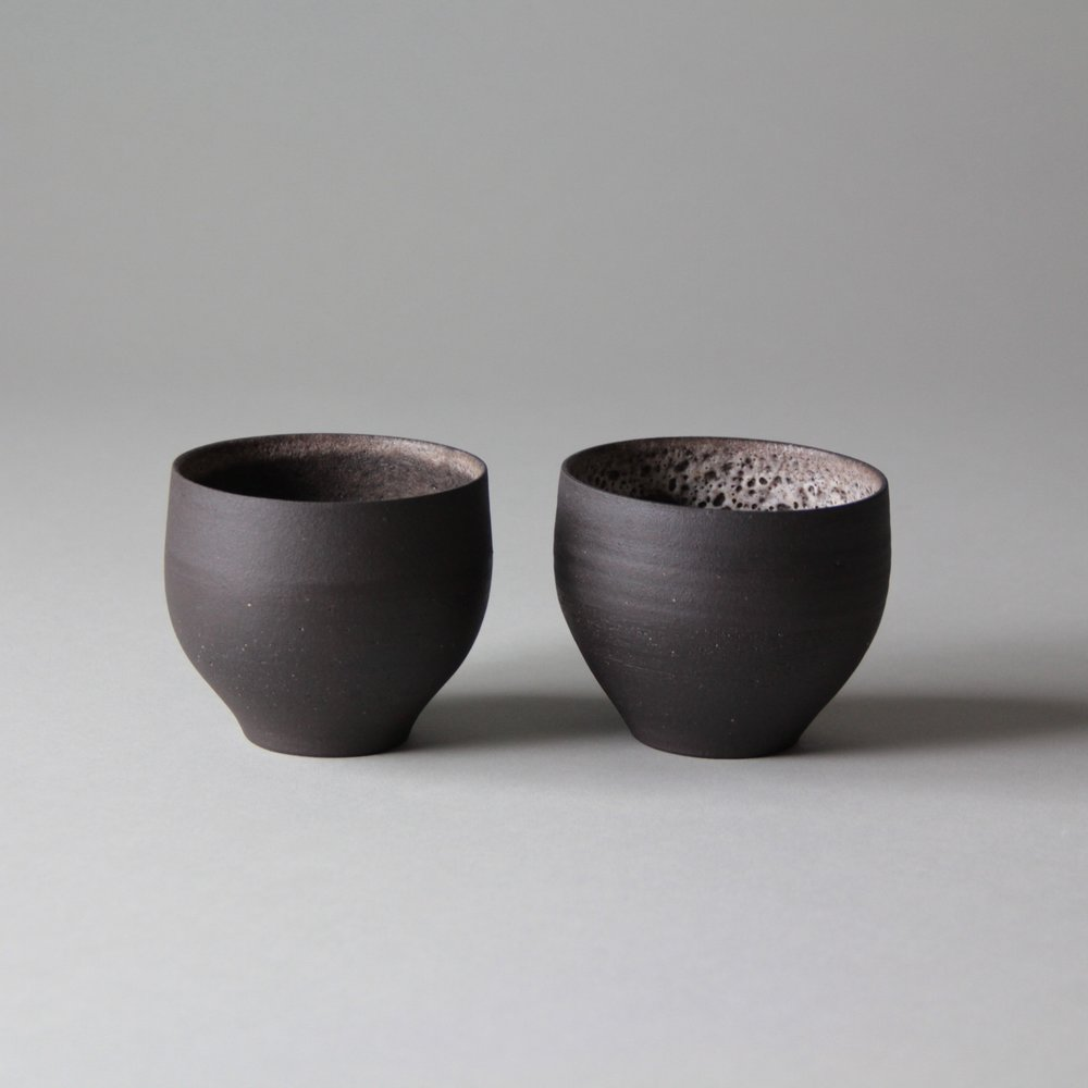 Stoneware tea cups made by Lilith Rockett, Portland, Oregon