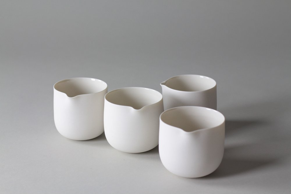 Ceramic tea pourers made by Lilith Rockett, Portland, Oregon