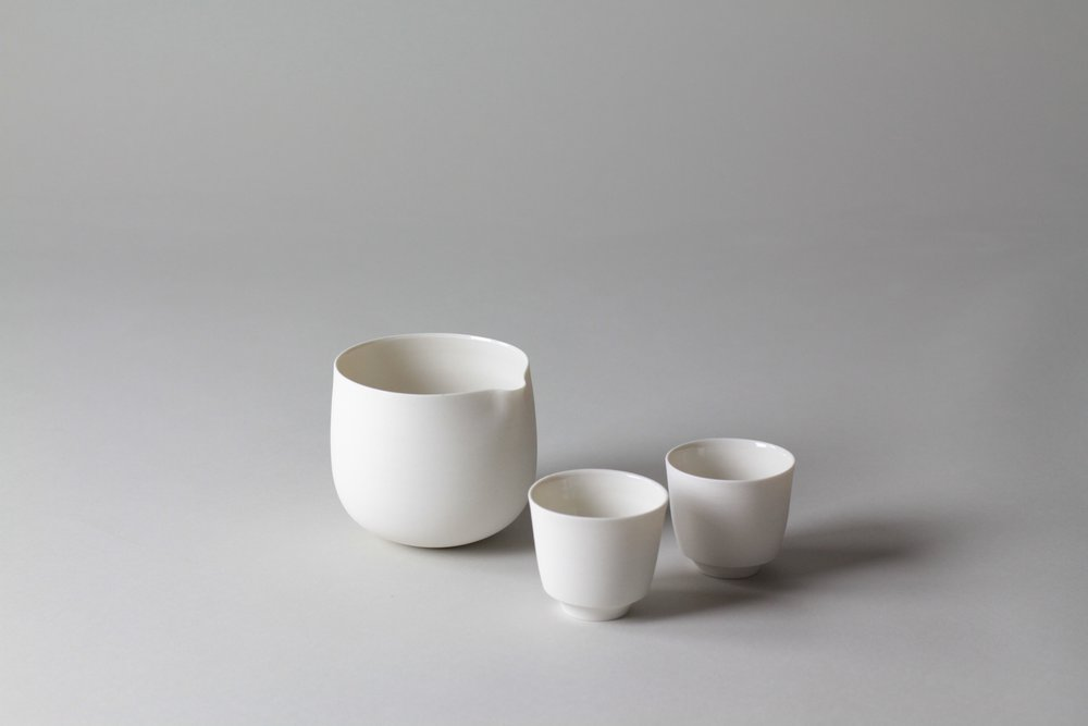 Ceramic tea set made by Lilith Rockett, Portland, Oregon
