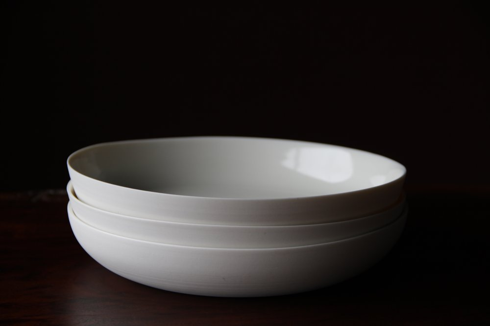 Ceramic tableware bowl set by Lilith Rockett, Portland, Oregon