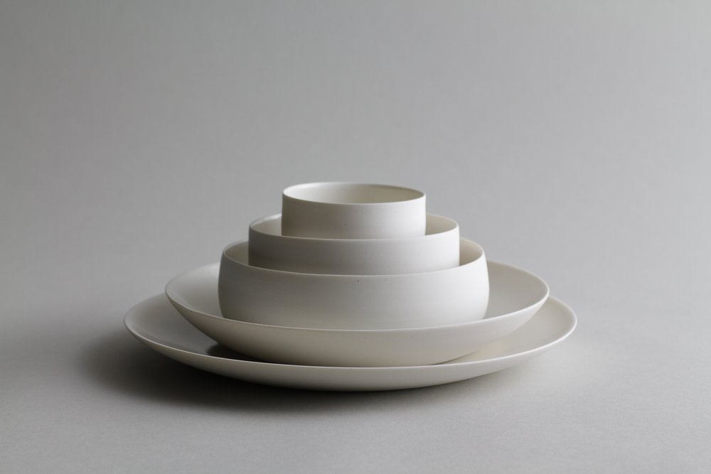 Ceramic tableware set by Lilith Rockett, Portland, Oregon