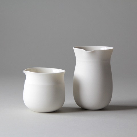 Ceramic tableware pourers by Lilith Rockett, Portland, Oregon