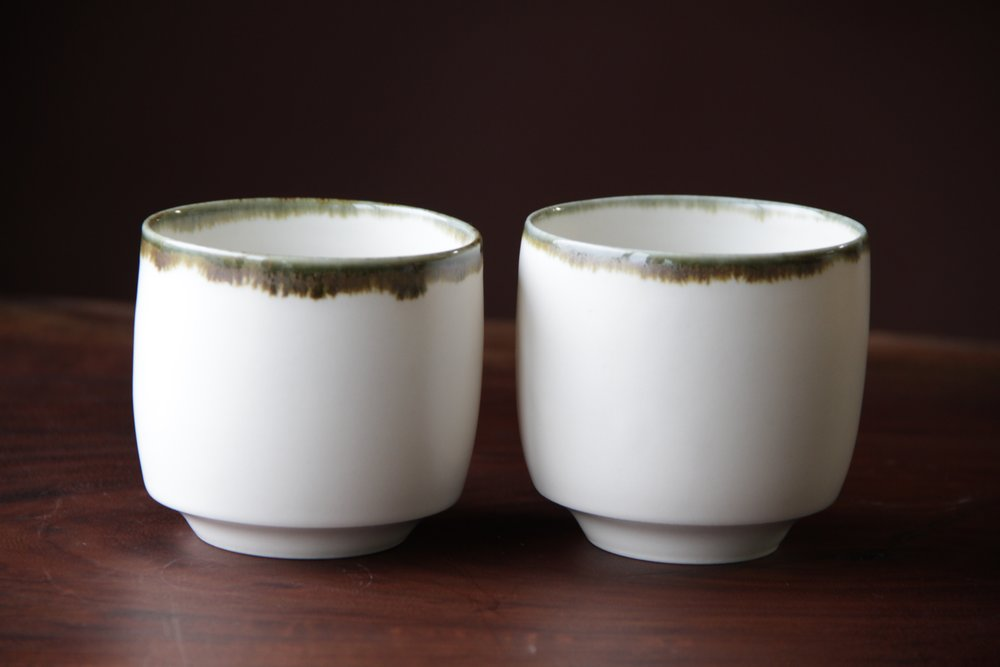 Ceramic tea cups made by Lilith Rockett, Portland, Oregon