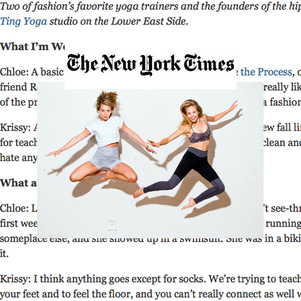 "The New York Times, ""Fashion's favorite yoga trainers..."""