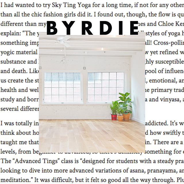 "Byrdie, ""...I felt right at home."""