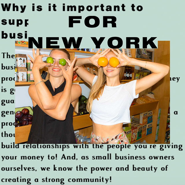 "FOR NEW YORK, ""...we know the power and beauty of creating a strong community!"""