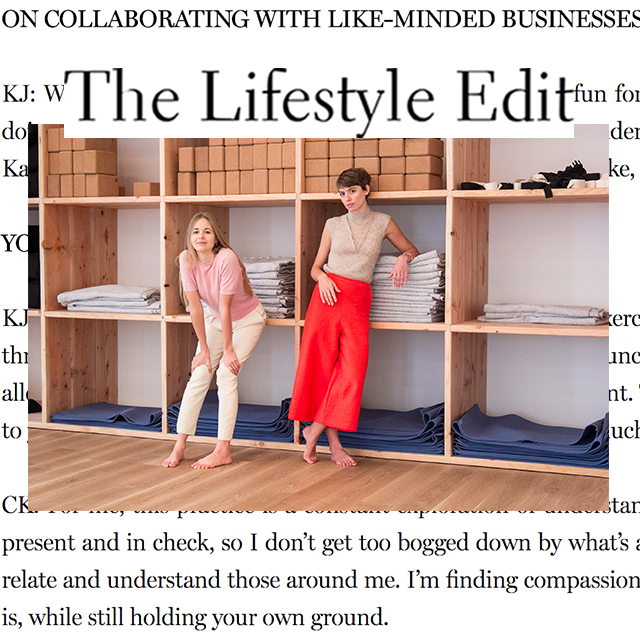 "The Lifestyle Edit, ""It's so much more than down dog!"""