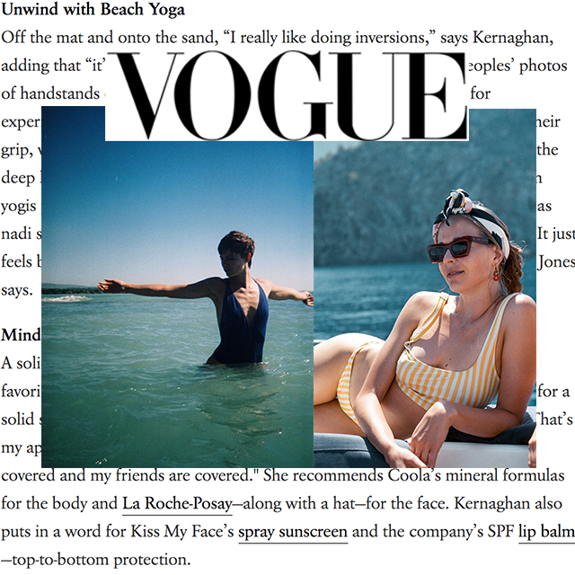 "Vogue, ""How Downtown's Coolest Yoga Duo Hits The Beach"""