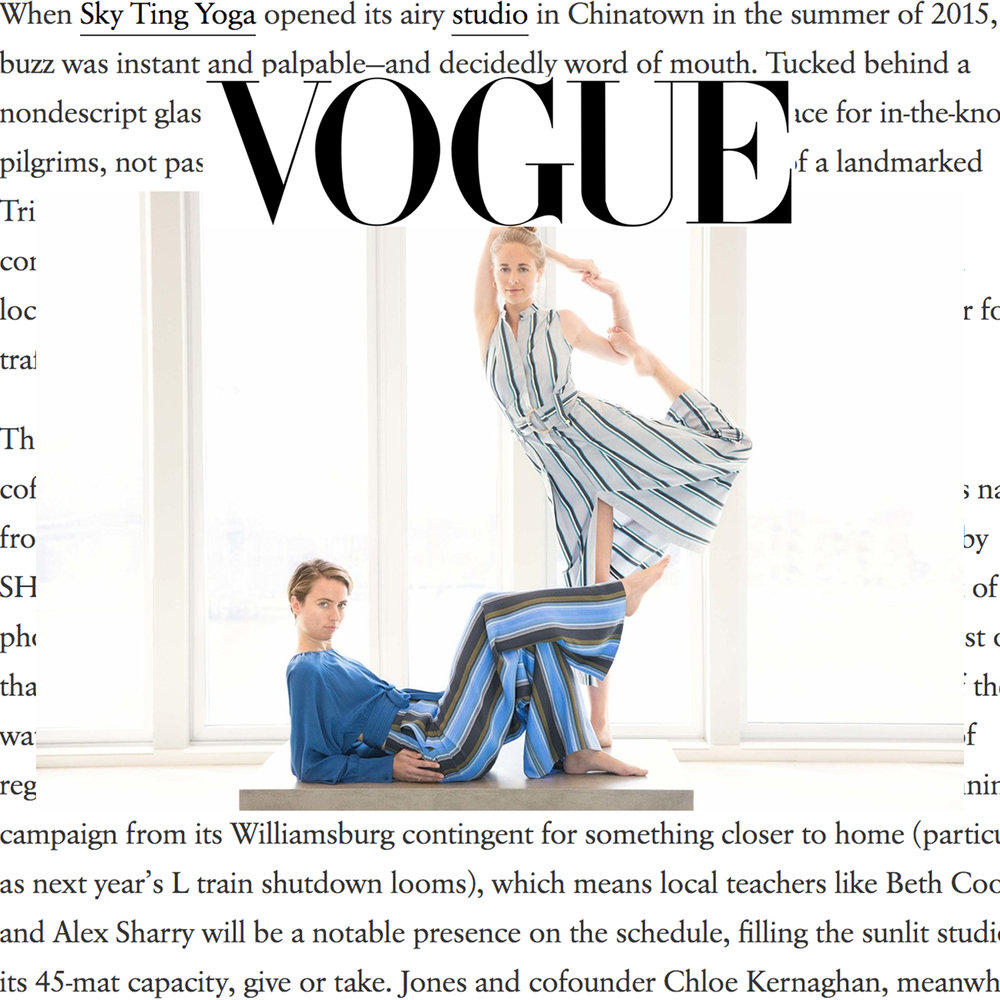 "Vogue,  ""Now, with its first ground-level location in Williamsburg, Brooklyn."""