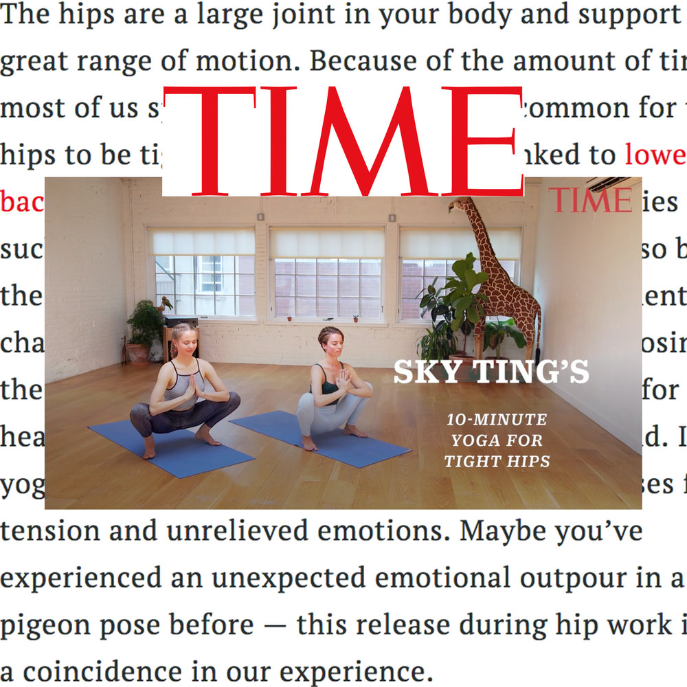 "Time, ""SKY TING'S 10-Minute Yoga for Tight Hips"""