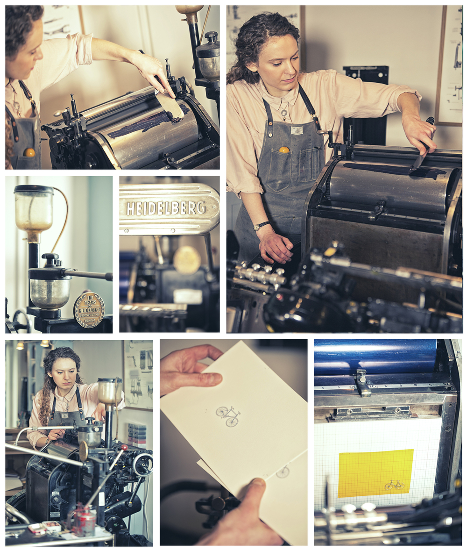 Zoe @ Meticulous Ink. Heidelberg letterpress
