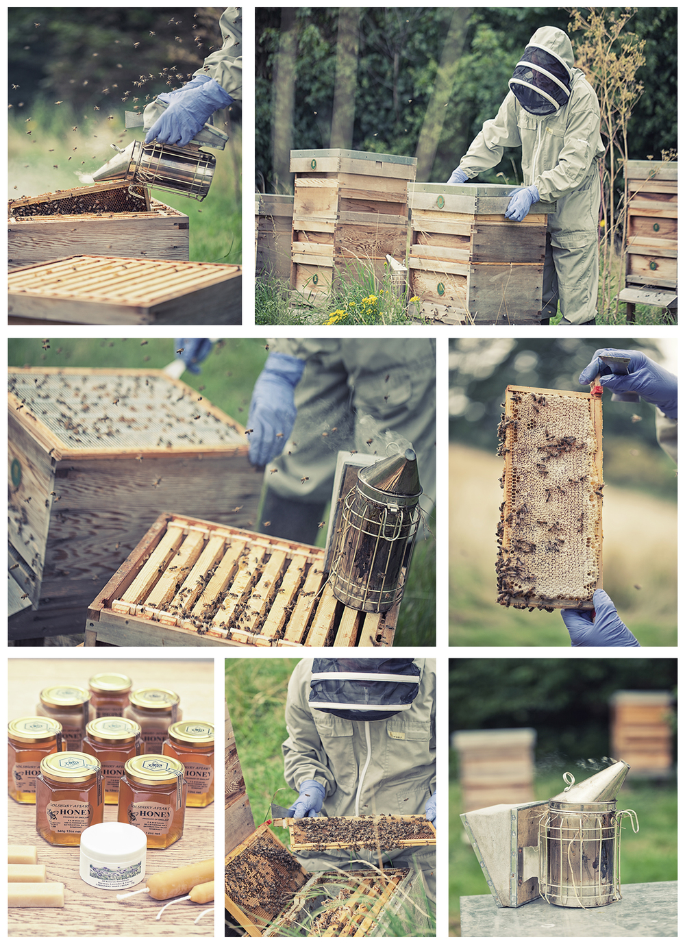 Pete Davis from the Bath BeeKeepers Association, and his Solsbury Honey