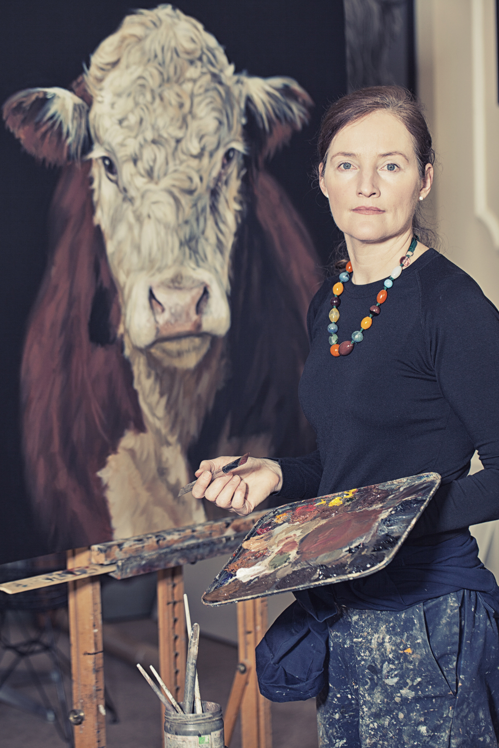 Joanne Cope in her studio