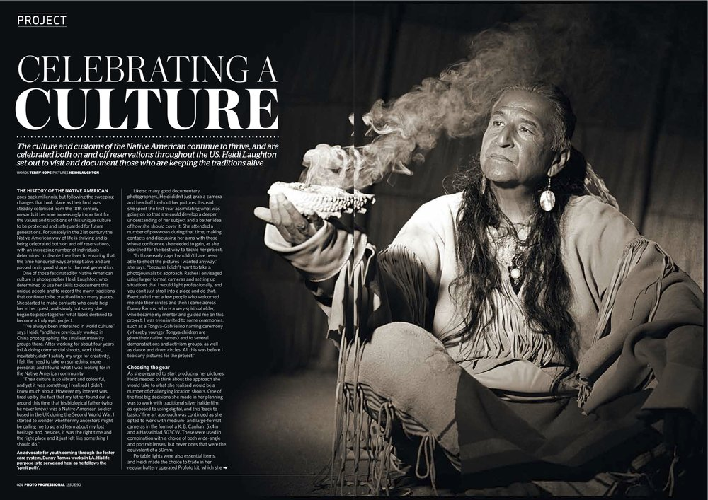 Native American Culture Series for Photo Pro magazine