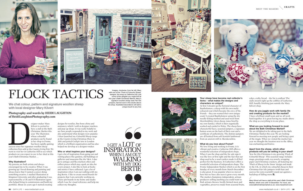 Mary Kilvert, independent shop owner, for BathLife Magazine
