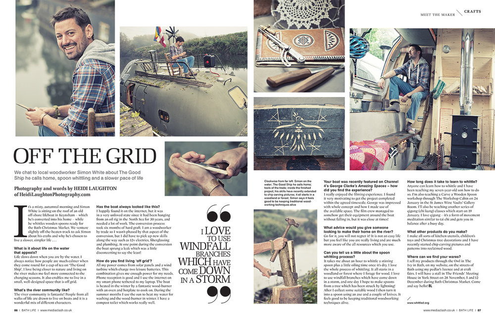 Life off Grid for BathLife Magazine