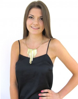 This miale necklace from Johari is made from brass directly sourced from Kenya. Click the image to visit their website.