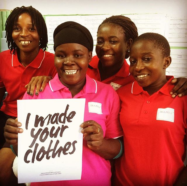 Aiai! A very belated #whomademyclothes post for the #fashionrevolution week all over the world (my excuse? Travelling in the bush!). At IKURU, you know who made your clothes as these ladies sign each piece which was lovingly handcrafted by them- a simple and beautiful way to link women in Pemba to women and men all around the world. Please continue to buy ethically made products from all your favourite labels- each purchase counts in helping hundreds of thousands of artisans make a better income and lead a higher quality life thanks to all of you peops ❤️✨🙏! 💪🏽#womenempowerment #womensupportingwomen