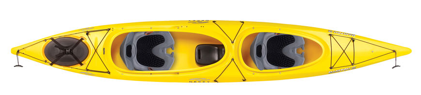 "Material: Polyethylene   Length: 14' 8"" / 4.5 m   Width: 28"" / 71.1 cm   Weight: 79 lbs / 35.8 kg   Bow Cockpit: 35"" x 17"" / 88.9 x 43.2 cm   Stern Cockpit: 48.5""x18"" / 123.2x45.7 cm   Max Capacity: 425-475 lbs / 192.8-215.5 kg"