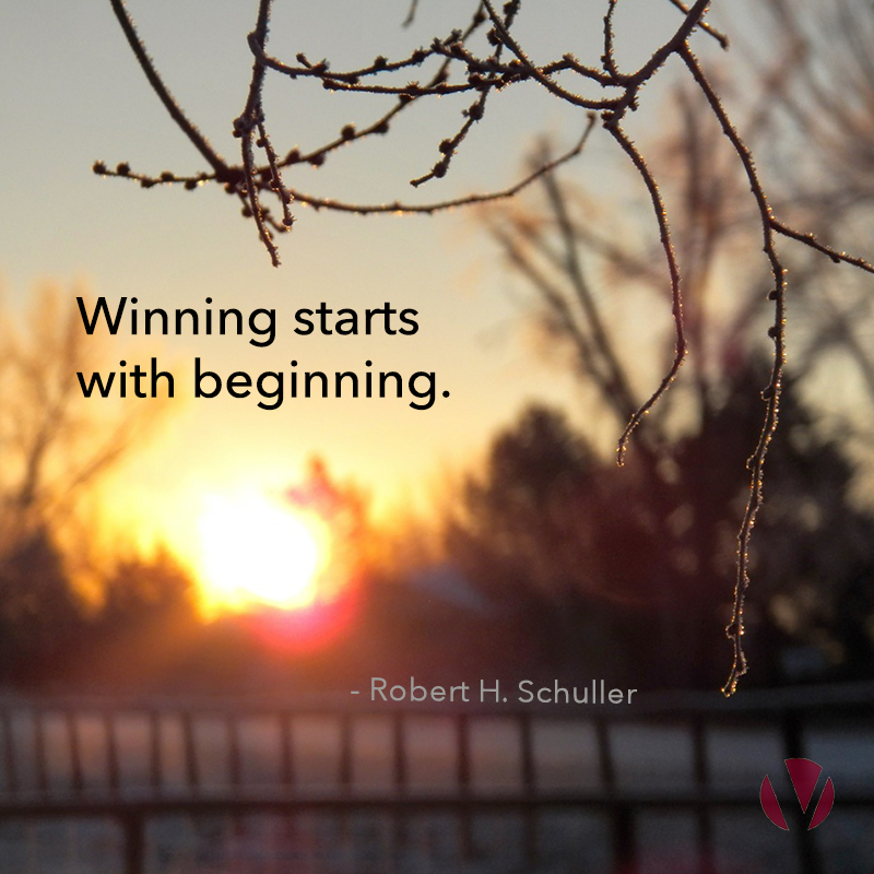 winning starts with beginning