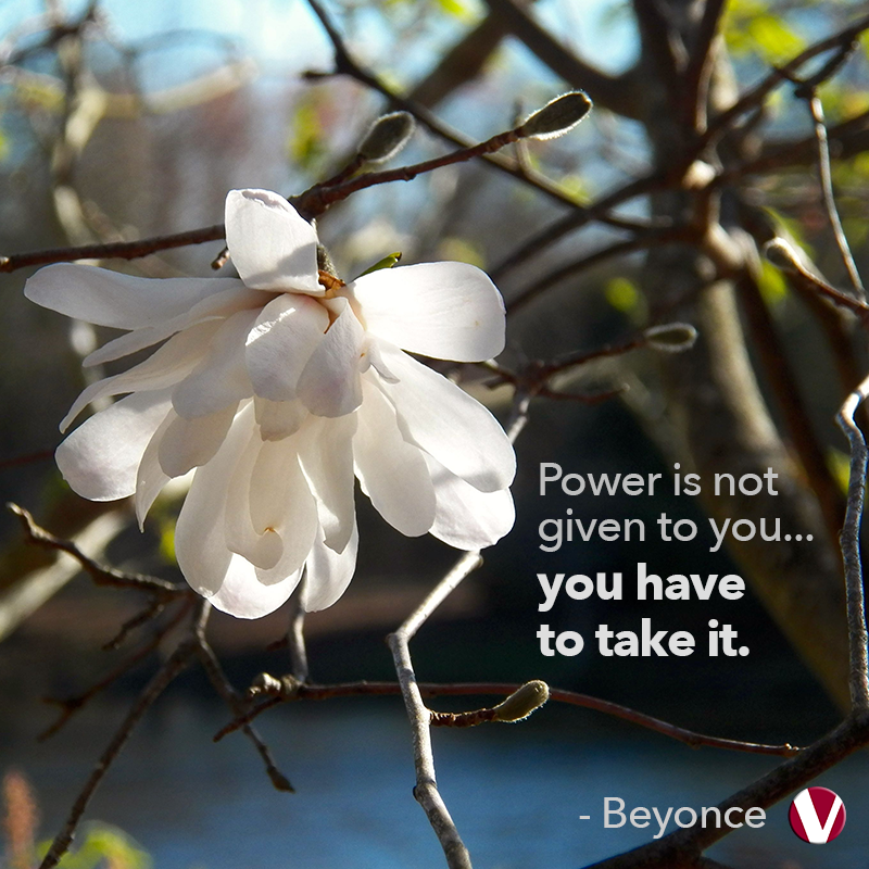 power is not given to you you have to take it